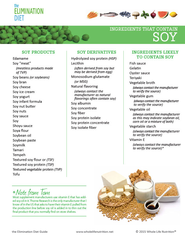 List Of Whole Soy Foods